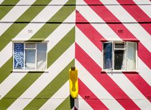 Bright house facade Stock Photography