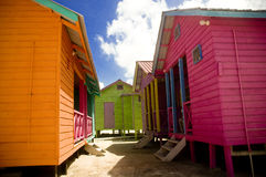 Bright Houses in Mexico Stock Image