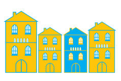 Bright houses Royalty Free Stock Photography
