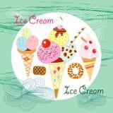 Bright ice cream Royalty Free Stock Photography
