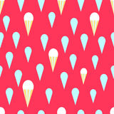 Bright ice cream seamless pattern Stock Photography