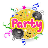 Bright icon with the party Royalty Free Stock Image