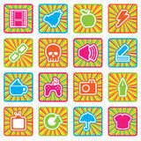 Bright icons, set 1 Royalty Free Stock Photography