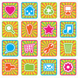 Bright icons, set 2 Royalty Free Stock Images