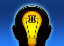 Bright Idea. An illustration of coming up with a bright idea Stock Illustration