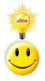Bright Idea. Digital concept of a Bright Idea Smiley Stock Image
