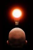 Bright idea. A guy had a bright idea in mind stock illustration