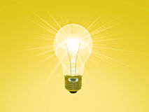 A Bright Idea. Golden shades for the perfect presentation Royalty Free Stock Image