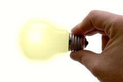 Bright Idea. Concept : bright idea. Bulb isolated on white royalty free stock photos