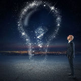 Bright idea as the stars Stock Images