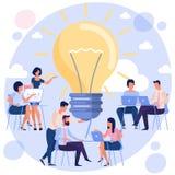 Bright idea concept stock image