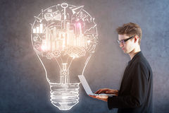 Bright idea concept Royalty Free Stock Photos