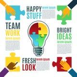 Bright idea, creative conceptual background. Stock Photo