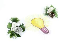 Bright Idea of gift Royalty Free Stock Images