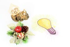 Bright Idea of gift Stock Images