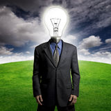 Bright idea guy Royalty Free Stock Photography