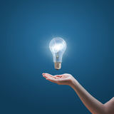 Bright idea in hand Stock Images