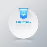 Bright idea info card Stock Photo