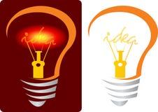 Bright idea lamp Royalty Free Stock Photography