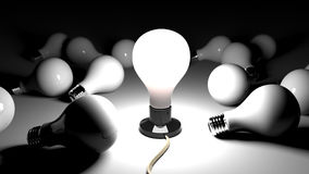 Bright Idea lamp Royalty Free Stock Photos