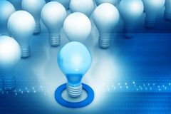 Bright idea or leadership concept Royalty Free Stock Photography