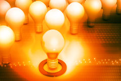 Bright idea or leadership concept Royalty Free Stock Images