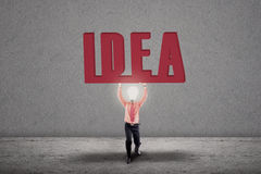 Bright idea light bulb concept Stock Photo