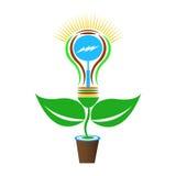 Bright idea with light bulb Royalty Free Stock Photos