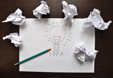 Bright Idea Stock Photography