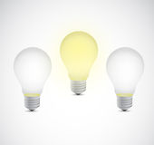 Bright idea light bulbs illustration design Royalty Free Stock Photo