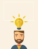 Bright idea of man Royalty Free Stock Photos