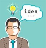 Bright Idea Man vector Illustration. File eps Royalty Free Stock Photo