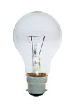Bright Idea (With Path). An isolated clear lightbulb with clipping path Royalty Free Stock Images