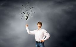 Bright idea Stock Image