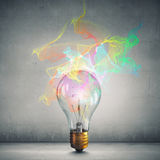 Bright idea for success . Mixed media royalty free stock images