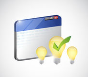 Bright idea on the web. internet business concept Royalty Free Stock Images