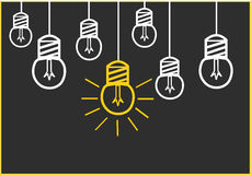 Bright Ideas. On the blackboard Royalty Free Stock Photo