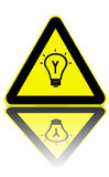 Bright ideas zone warning stock photography
