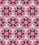 Bright illusory abstract geometric seamless pattern with 3d geom Royalty Free Stock Photo
