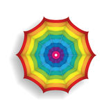 Bright Illustration of a colorful parasol Stock Photography