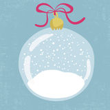 Bright illustration of hand drawn snow globe. Stock Images