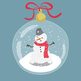 Bright illustration of hand drawn snow globe. Royalty Free Stock Photo