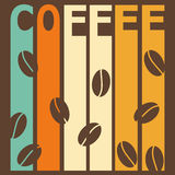 Bright illustration on the theme of coffee time for design Royalty Free Stock Photography