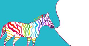 Bright illustration with zebra Royalty Free Stock Image
