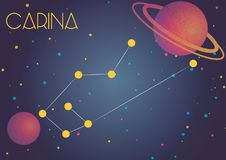 The constellation Carina. Bright image of the constellation Carina. Kids who are fond of astronomy will like it very much Stock Illustration