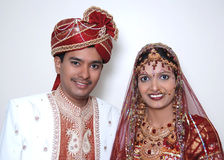 Bright Indian couple Stock Photos