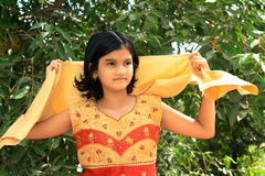 Bright Indian girl Stock Images