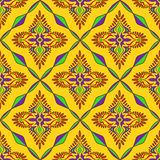 Bright Indian seamless pattern Royalty Free Stock Images
