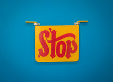 Bright Indian Stop Sign Stock Images