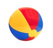 Bright inflatable ball isolated on white Stock Photo